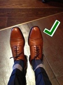 Носки должны соответствовать цвету ваших брюк