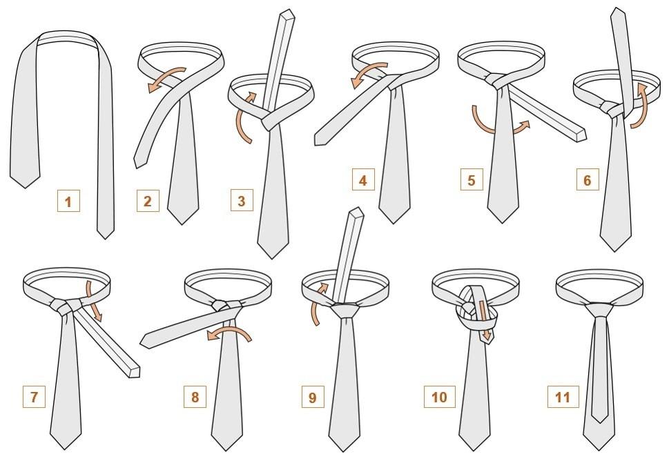 Как завязать галстук узел Мюррел