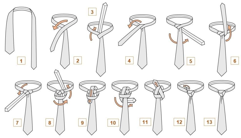 Как завязать галстук узел Тринити