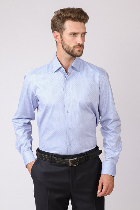 Полуприталенная рубашка KANZLER