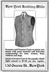 1907. New York Knitting Mills