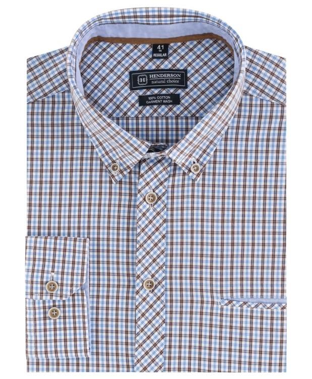 Рубашка в клетку в стиле smart casual от Henderson