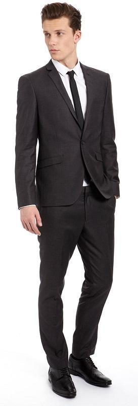 Как подобрать туфли к костюму, черный костюм