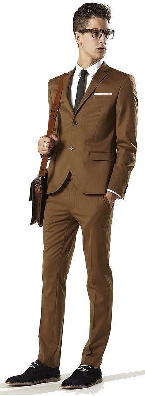 Как подобрать туфли к костюму, коричневый костюм