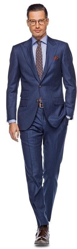 Как подобрать туфли к костюму, синий костюм