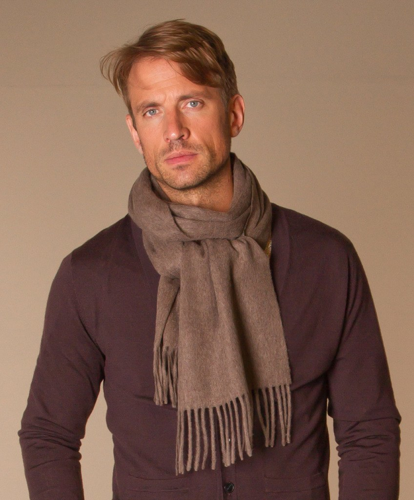 Кашемировый мужской шарф