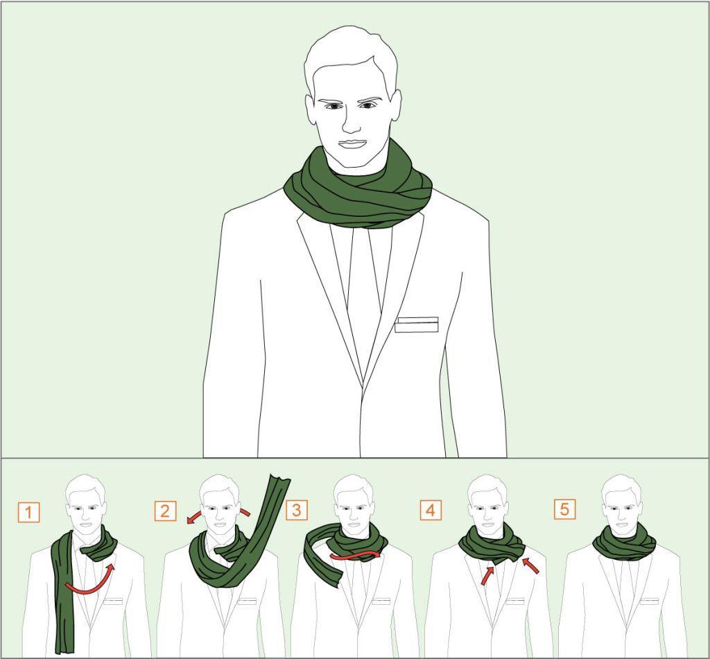 Как завязать шарф двойным обертыванием