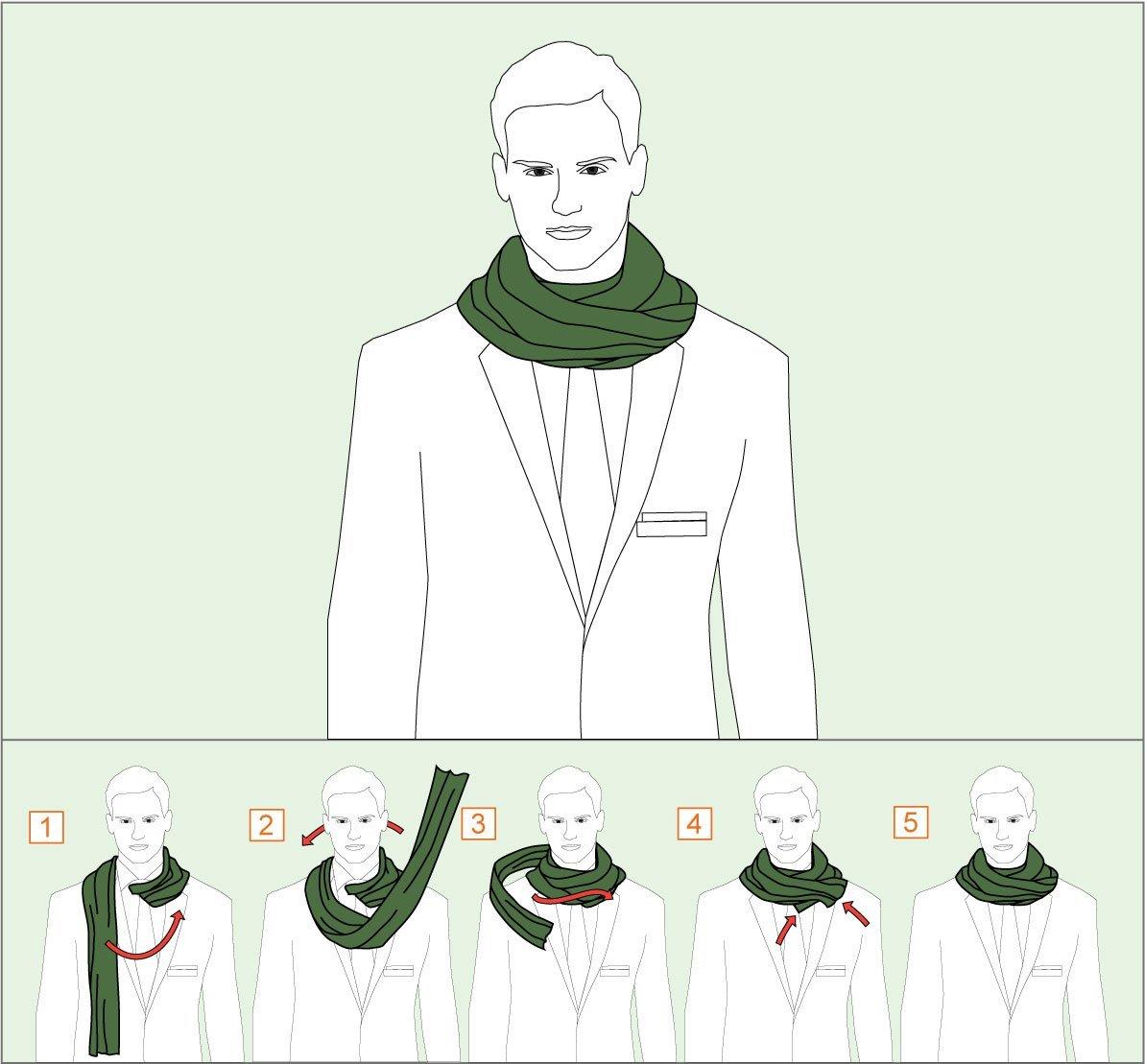 Наглядные фотоинструкции, как красиво завязать шарф, платок и ... | 1109x1193