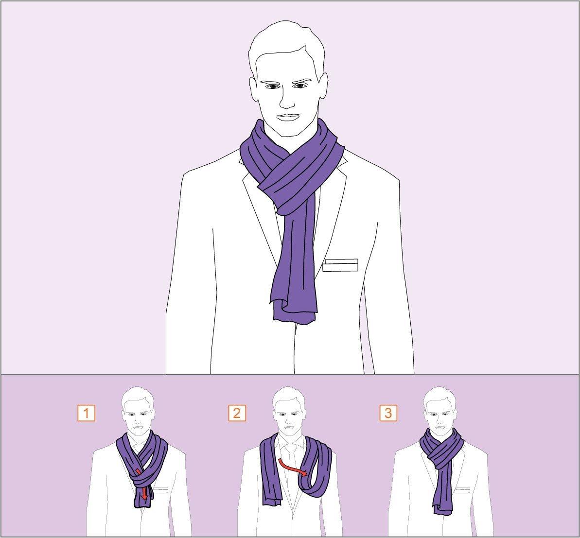 Наглядные фотоинструкции, как красиво завязать шарф, платок и ... | 1107x1193