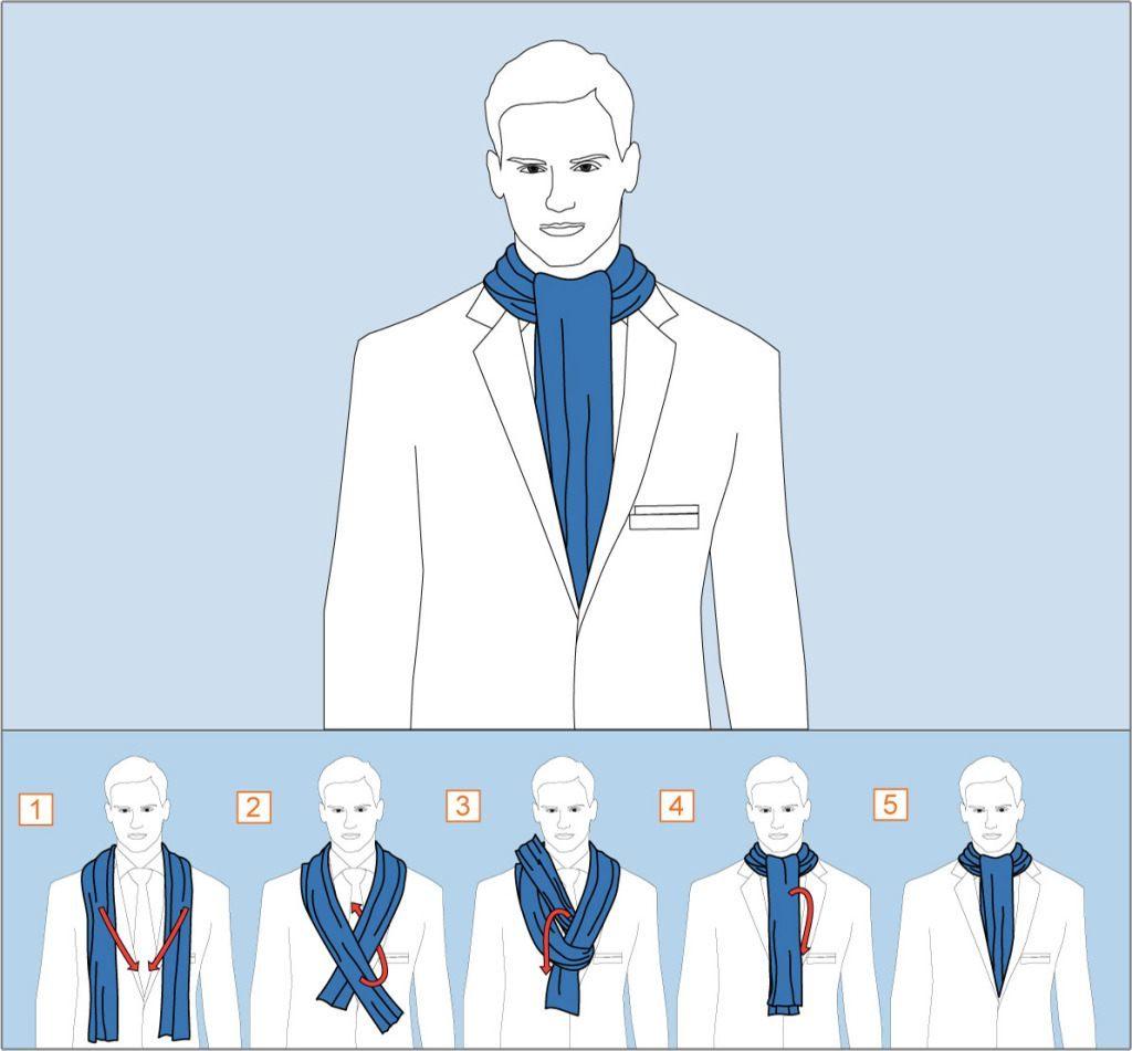 Как завязать шарф узлом Аскот