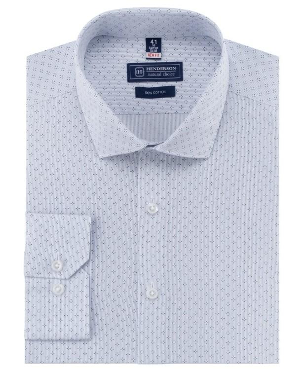 Рубашка серая с узором от Henderson