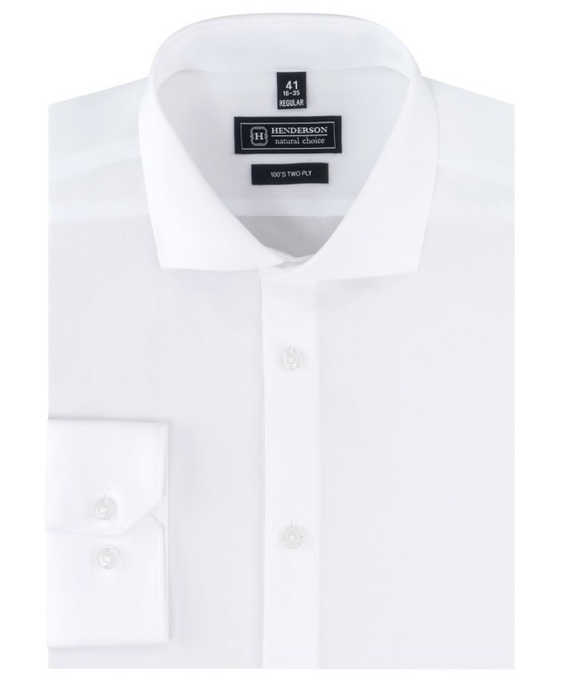 Рубашка классическая однотонная белого цвета от Henderson