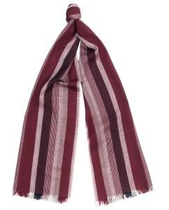 Шарф в полоску, ширина 40 см, текстильный
