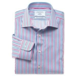 Полосатая рубашка в business casual стиле