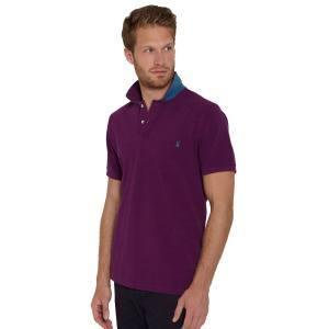Фиолетовая футболка поло
