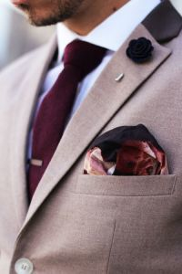 мужской нагрудный платок сочетание
