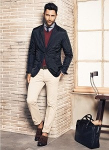 Бежевые брюки чинос