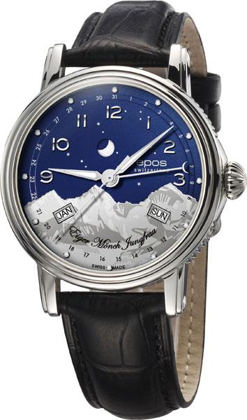 Мужские швейцарские механические наручные часы Epos 3391.832.20.36.25