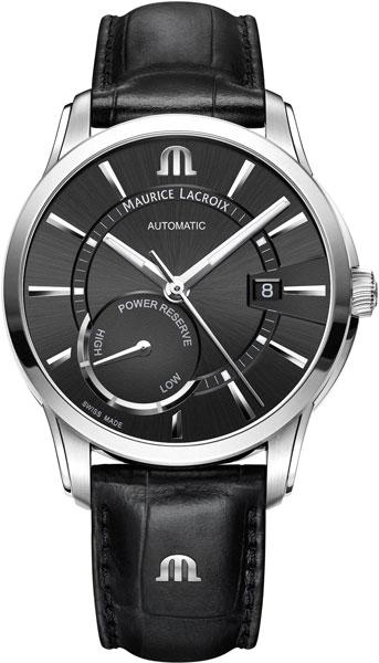Мужские швейцарские механические наручные часы Maurice Lacroix PT6368-SS001-330-1