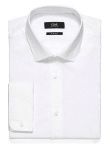Next_белая классическая рубашка