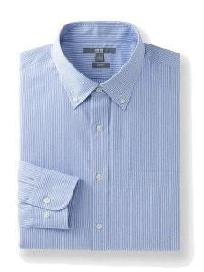 Рубашка Uniqlo с воротником на руговицах голубая