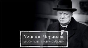Уинстон Черчилль – любитель галстук-бабочек (миниатюра)