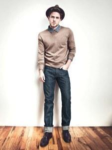 Узкие тёмные джинсы