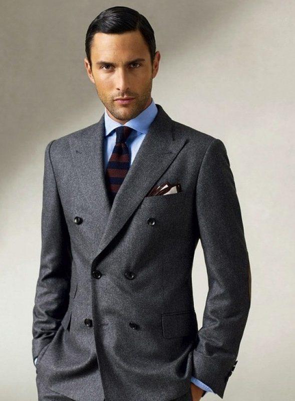 Двубортный пиджак с 6-ю пуговицами