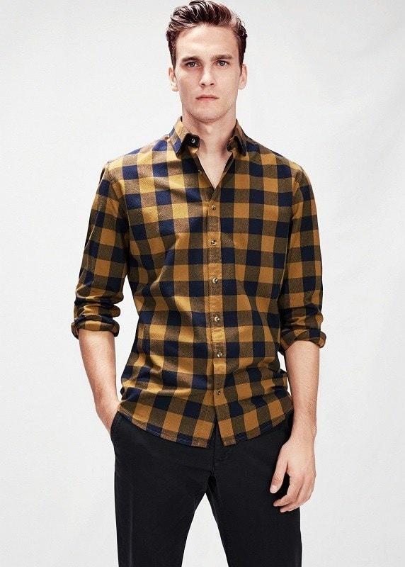 Клетчатая casual рубашка