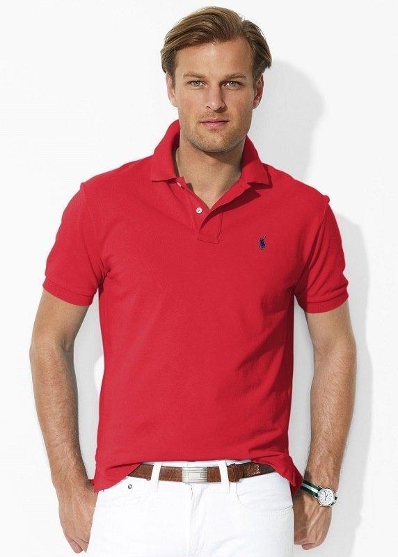 Красная рубашка поло