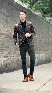 Спортивный пиджак и коричневые борги