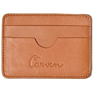 Тонкий бумажник рыжего цвета