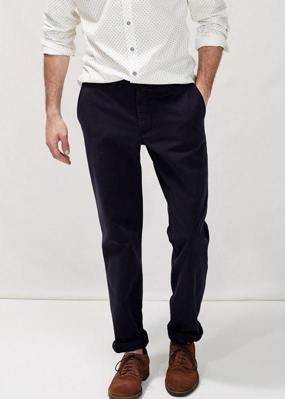 Тёмно-синие casual брюки чинос