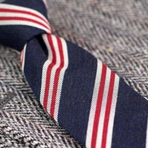 Полосатые шерстяные галстуки