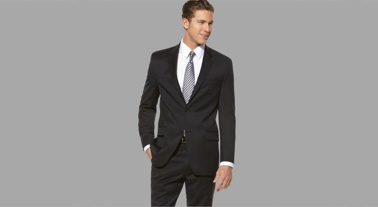 Вид с деловым пиджаком