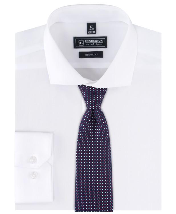 Рубашка однотонная белого цвета от компании HENDERSON