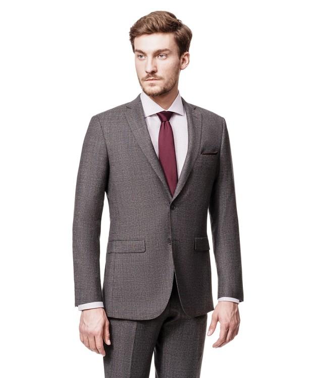 Классический серый костюм в клетку от компании HENDERSON