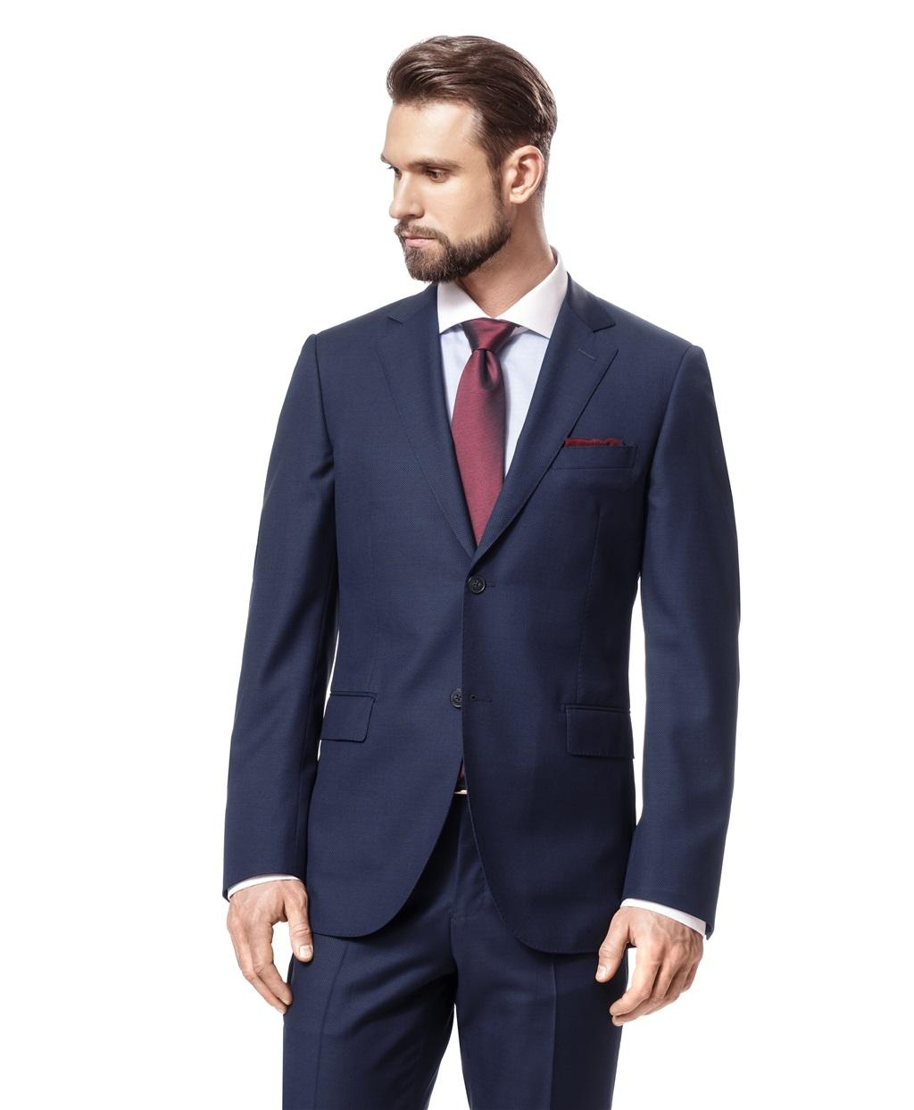 1757a136700 Темно-синий костюм с орнаментом от компании HENDERSON