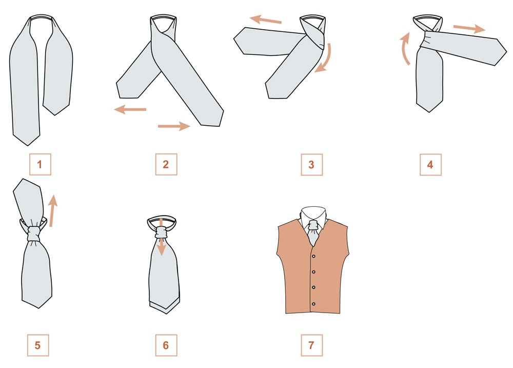 Завязываем платок мужчине для свадебного костюма стиль Scrunchie (схема 3)