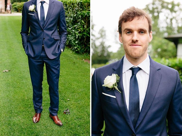 Синий костюм на свадьбу