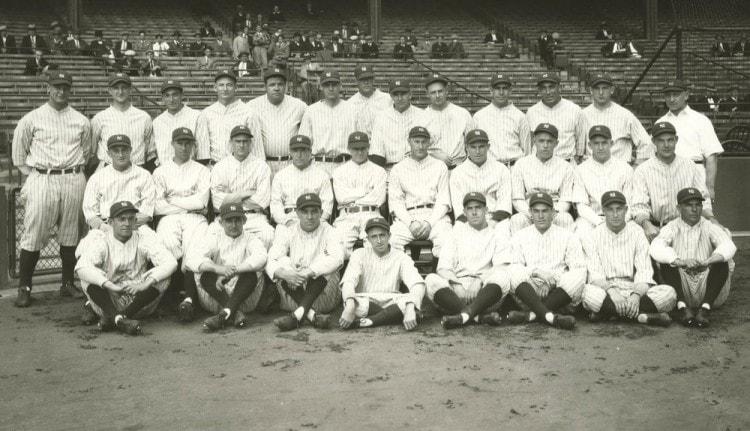 Фотография бейсбольной команды Yankees 1927 год