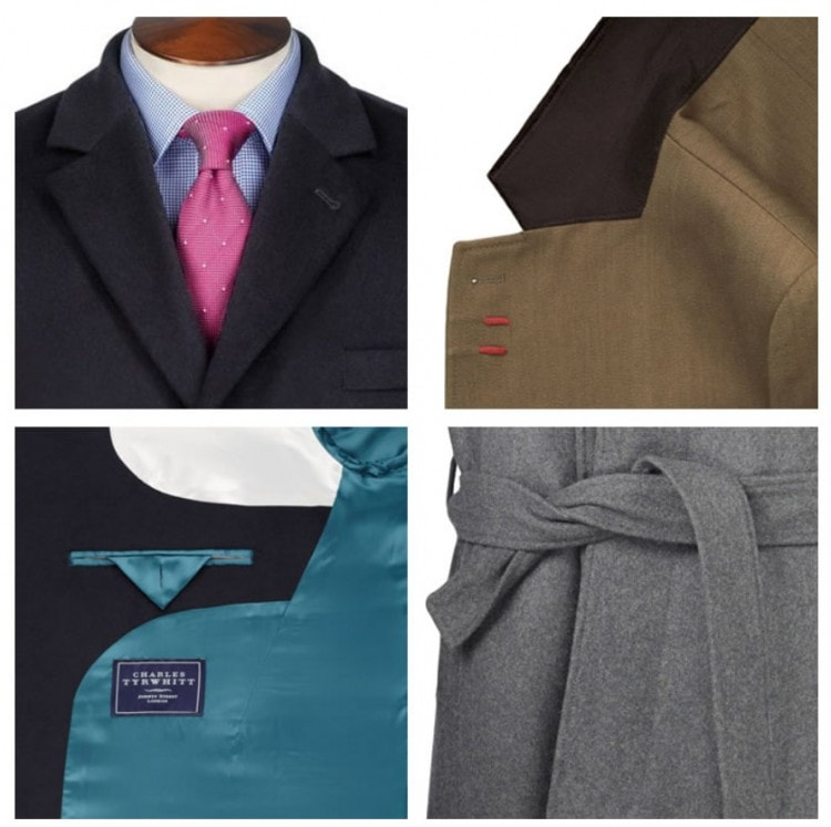 Детали пальто - стиль отворотом, подворотничок, подкладка, пояс