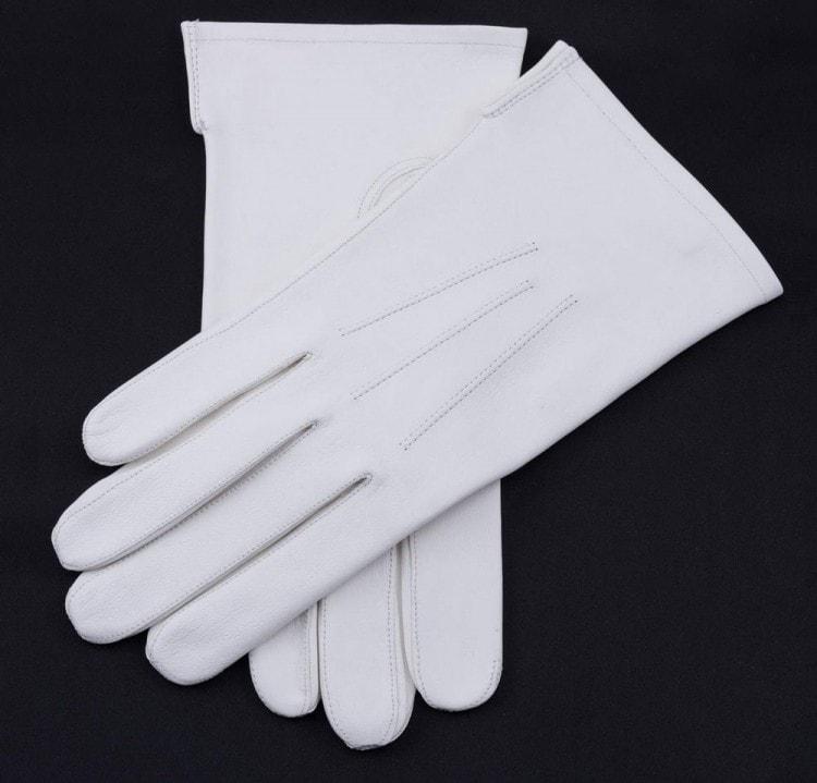 Мужские белые вечерние перчатки
