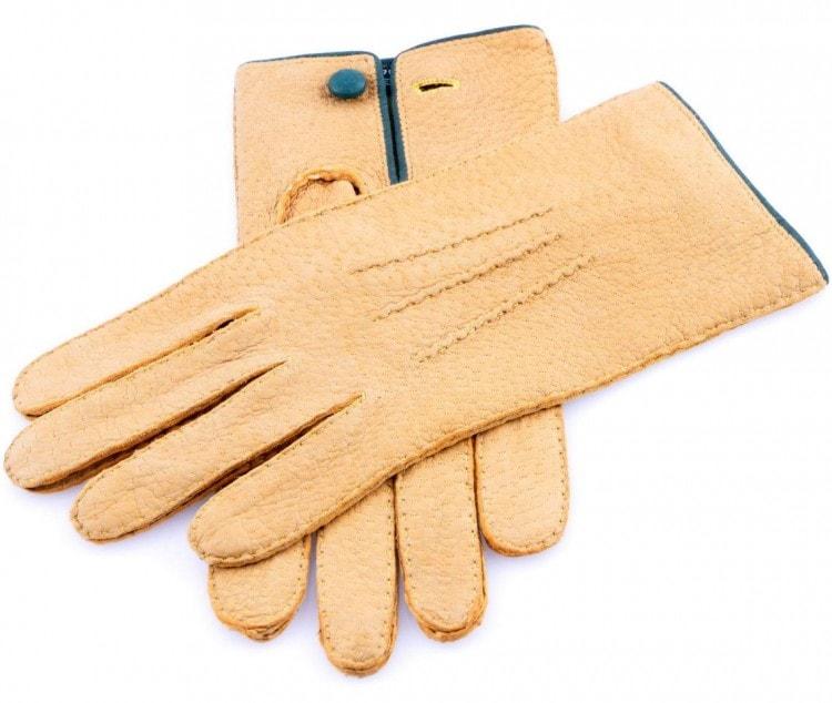 Мужские перчатки из кожи пекаря без подкладки
