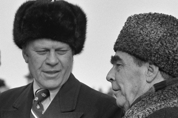Леонид Ильич Брежнев и 38 президент США Джеральд Форд