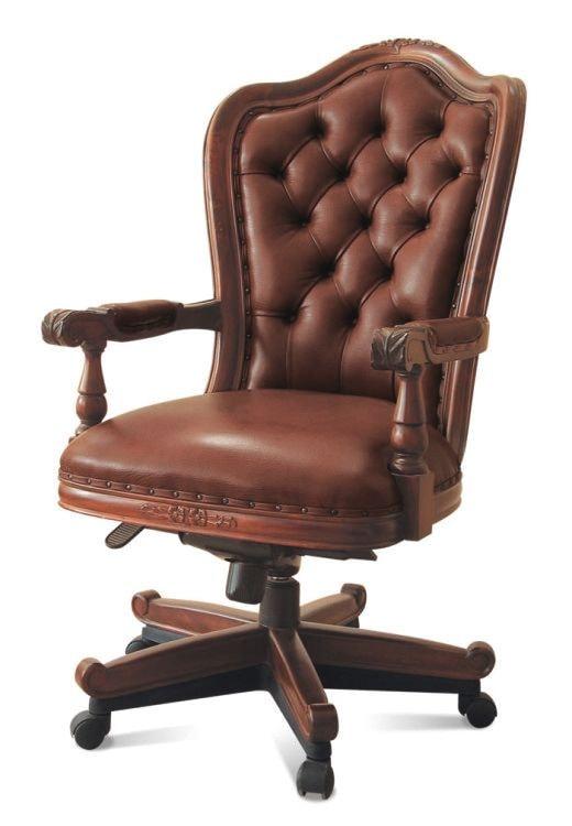 Кресло из кожи в кабинет – отличный подарок для делового мужчины и бизнесмена