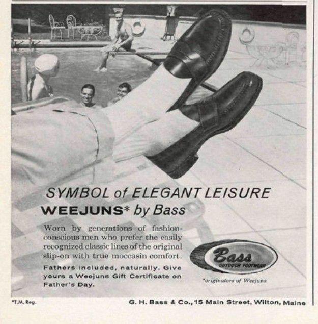 Реклама Weejuns из 1962'х – символ элегантности