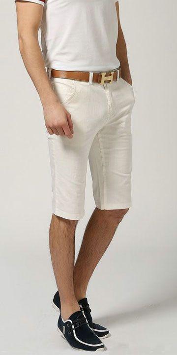 Шорты из хлопка, джинсовый крой