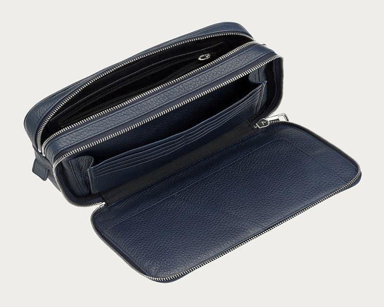 Многофункциональный мужской несессер имеет множество отделений и карманов для хранения мелочей