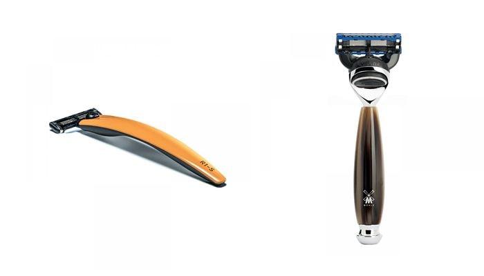 Станки для бритья со сменными картриджами могут иметь различный дизайн и расцветки